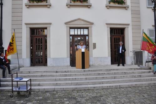 Discours de Mme Kaarina Lorenzini, Présidente de Lancy d'Autrefois.